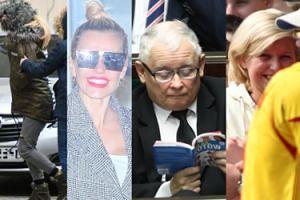 """ZDJĘCIA TYGODNIA: Policja zatrzymuje Dodę, Kaczyński czyta """"Atlas kotów"""", Lewandowska """"przyłapana"""" w blondzie"""