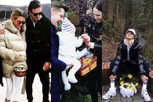 Majdany, Mroczek i rozkraczona Horodyńska chwalą się święconkami (ZDJĘCIA)