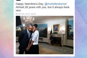 Michelle i Barack Obama świętują Walentynki. Słodko?