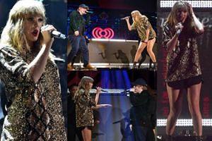 """""""Świąteczna"""" Taylor Swift na scenie z Edem Sheeranem (ZDJĘCIA)"""