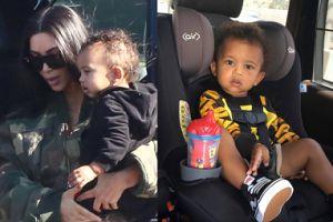 """Fani krytykują Kim za zdjęcia synka na przednim siedzeniu samochodu. """"Powinnaś być lepiej poinformowana!"""""""