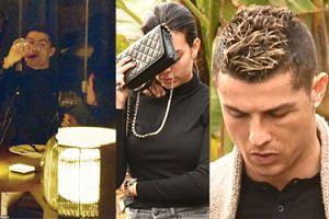 Blond Ronaldo i smutna Georgina idą do restauracji napić się wina (ZDJĘCIA)