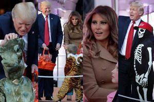 Melania i Donald Trump rozdają dzieciom cukierki na Halloween (ZDJĘCIA)