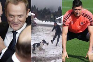 """Tusk chwali się umiejętnościami piłkarskimi: """"Nie martwcie się kontuzją Roberta. Są alternatywy..."""" (WIDEO)"""