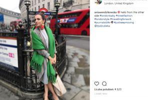 Wendzikowska pozdrawia z jesiennego Londynu