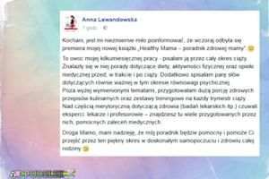 """Lewandowska zachwala książkę: """"Pisałam ją przez cały okres ciąży"""""""