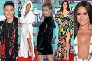 """Ucieszony Dawid Kwiatkowski, Rita Ora w szlafroku i """"najseksowniejsza kobieta świata"""" na gali MTV w Londynie (ZDJĘCIA)"""