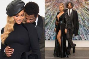 Wystrojona Beyonce wspiera męża na imprezie w Nowym Jorku. Seksowna? (FOTO)