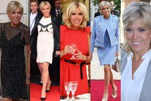 Najlepsze stylizacje Brigitte Macron w 2017 roku. Ubiera się lepiej od Melanii Trump? (ZDJĘCIA)