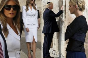 Donald Trump modli się pod Ścianą Płaczu w Jerozolimie (ZDJĘCIA)