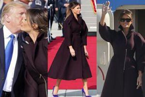 Elegancka Melania Trump w płaszczu za 15 tysięcy całuje Donalda w Korei (ZDJĘCIA)
