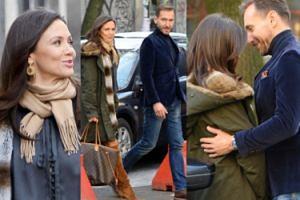 Uśmiechnięty Piotr Kraśko odprowadza Kingę do samochodu (ZDJĘCIA)