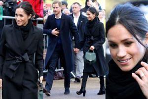Uśmiechnięty Harry i Meghan w płaszczu za SIEDEM TYSIĘCY ZŁOTYCH zwiedzają stolicę Walii (ZDJĘCIA)
