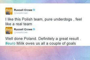 Russell Crowe pozytywnie o naszej reprezentacji