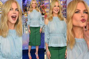 Podekscytowana Nicole Kidman otwiera świąteczną ekspozycję w Paryżu (ZDJĘCIA)