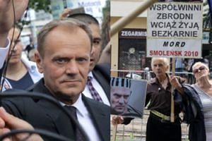 """Tusk do reportera TVP pytającego o trumny z ofiarami smoleńskimi: """"Nie będę odpowiadał, bo w Polsce NIE MA TELEWIZJI PUBLICZNEJ!"""""""