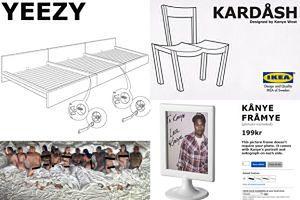 Internet kpi z Kanye Westa. Tak będą wyglądać jego meble dla IKEI? (ZDJĘCIA)