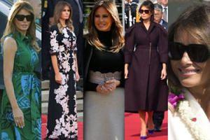 Zobaczcie WSZYSTKIE stylizacje Melanii Trump z Azji. Zachwyciła?