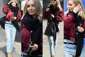 Agnieszka Szulim modnie ubrana, pozuje paparazzim do zdjęć od rana (ZDJĘCIA)