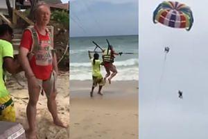 70-latek wypadł ze spadochronu i ZGINĄŁ NA OCZACH ŻONY! (WIDEO)