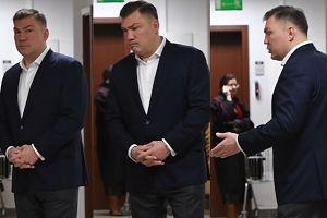 BARDZO ZDENERWOWANY Michalczewski w sądzie. Boi się wyroku za atak na żonę?