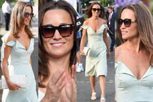 Pippa Middleton odsłania ramiona na Wimbledonie (ZDJĘCIA)