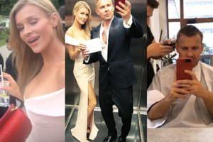 Co celebryci robili przed bankietem z Williamem i Kate? Krupa pokazała majtki, a Woliński... oglądał gołe krocza! (FOTO)