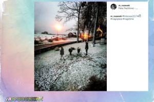 Majdany świętują pierwszy śnieg