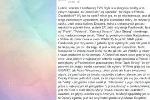 """Korwin-Piotrowska broni Dorocińskiego: """"Oszaleliście?"""""""
