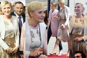 Agata Duda w złotych koronkach na spotkaniu z niemiecką parą prezydencką (ZDJĘCIA)
