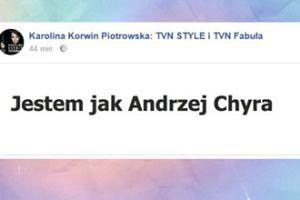 """Korwin Piotrowska wyznaje: """"Jestem jak Andrzej Chyra"""""""