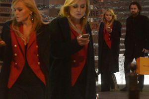 Elegancka Monika Olejnik wychodzi z partnerem z butiku Louis Vuitton (ZDJECIA)