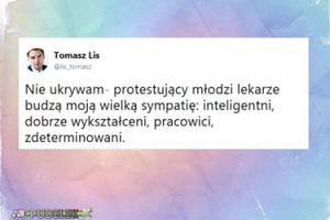 """Tomasz Lis deklaruje: """"Protestujący młodzi lekarze budzą moją wielką sympatię"""""""