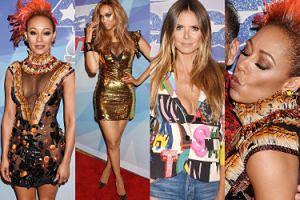 Mel B bez bielizny, rozświetlona Tyra Banks i stanik Heidi Klum razem na ściance (ZDJĘCIA)