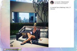 """""""Minimalistyczna"""" Rozenek wypoczywa w Singapurze"""