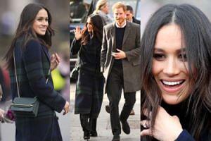 Szczęśliwa Meghan Markle w płaszczu za 10 tysięcy pozdrawia poddanych w Szkocji (ZDJĘCIA)