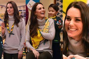 Kate Middleton spotkała się ze skautami (ZDJĘCIA)