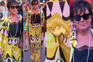 """Kris Jenner i jej """"camel toe"""" spacerują po francuskim kurorcie (ZDJĘCIA)"""