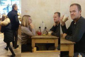 Donald Tusk pije latte na randce z żoną (ZDJĘCIA)