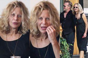 56-letnia Meg Ryan bez makijażu na randce (ZDJĘCIA)