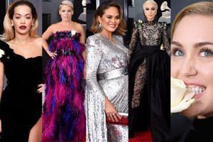 Grammy 2018: Lady Gaga, Rita Ora, Miley Cyrus, Pink... (ZDJĘCIA)