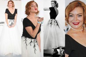 Lindsay Lohan jak Grace Kelly na imprezie w Cannes! (ZDJĘCIA)