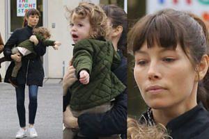 Jessica Biel próbuje zapanować nad 2-letnim synem (ZDJĘCIA)