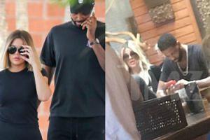 Khloe Kardashian wybacza zdradę Tristanowi na lunchu w Cleveland (FOTO)