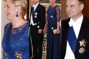 Wystrojeni Dudowie na kolacji z fińską parą prezydencką (ZDJĘCIA)