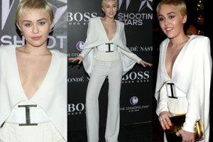 """""""Elegancka"""" Miley w białym kombinezonie... (ZDJĘCIA)"""