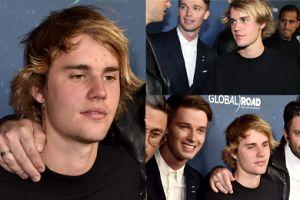 Bieber w kiepskim stanie próbuje pozować na ściance... (ZDJĘCIA)