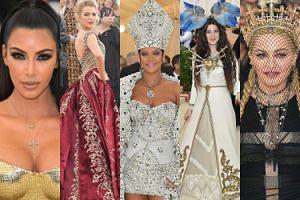 Gala MET 2018: odmieniona Kim Kardashian, Blake Lively, Rihanna w stroju papieża, Madonna w koronie... (DUŻO ZDJĘĆ)