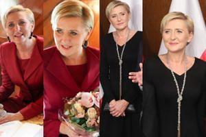 Agata Duda w dwóch eleganckich stylizacjach jednego dnia. W której wygląda lepiej? (ZDJĘCIA)