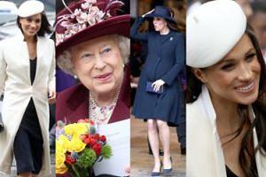 """""""Idealna rodzina królewska"""": Szczęśliwa Meghan debiutuje u boku królowej Elżbiety i Kate Middleton (ZDJĘCIA)"""